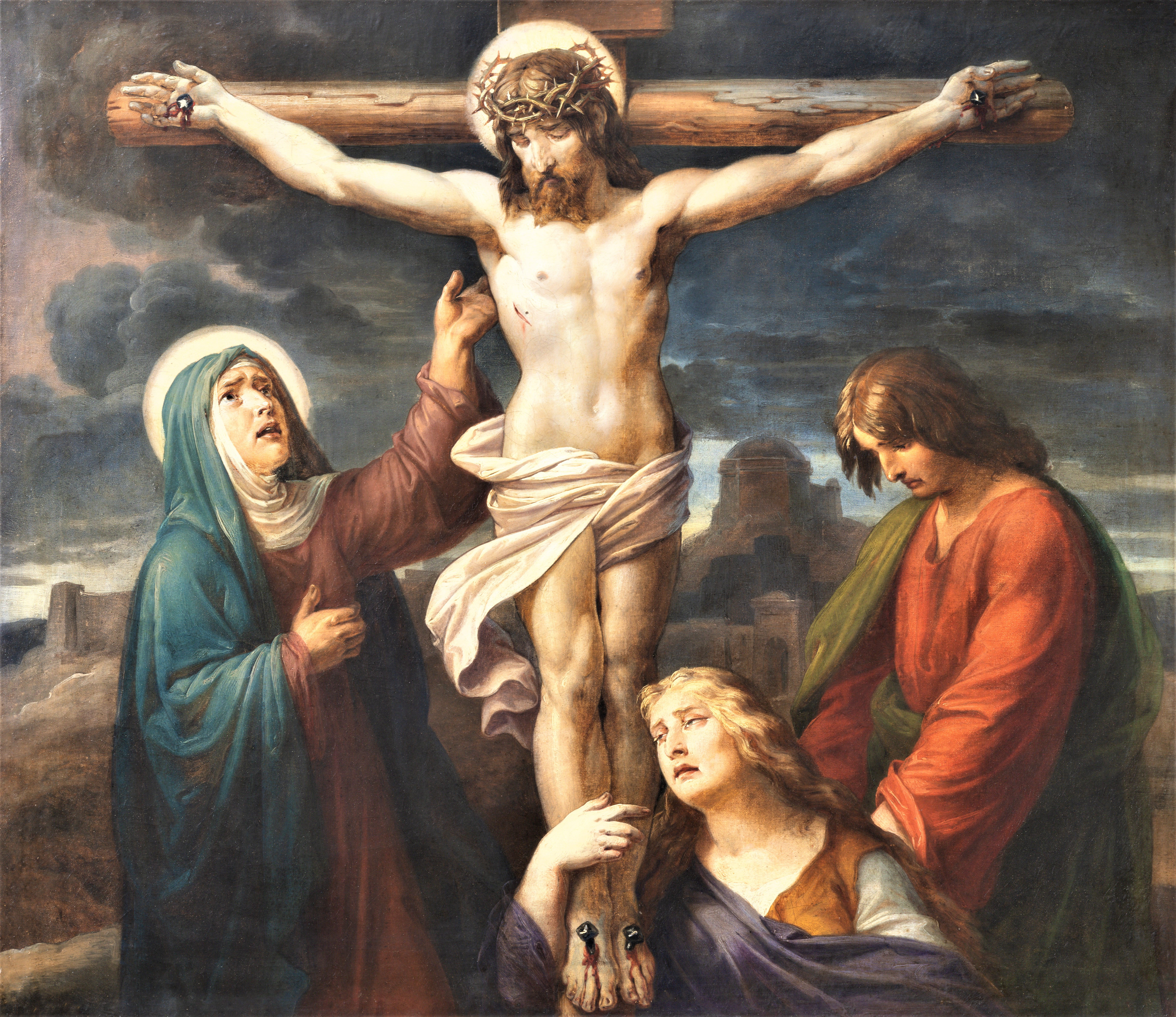 Vienna,,Austira,-,October,22,,2020:,The,Painting,Of,Crucifixion